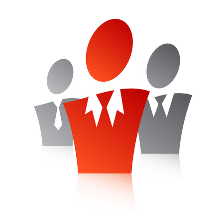 main group: A business illustration with a team leader