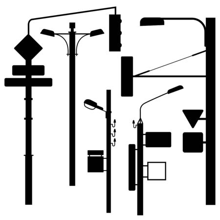 traffic pylon: A set of urban electric posts