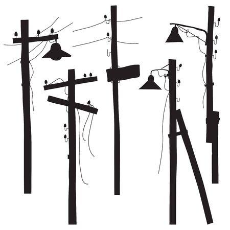 retro lamp: A set of retro lamp silhouettes Illustration