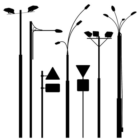 urban street: A set of urban electric posts