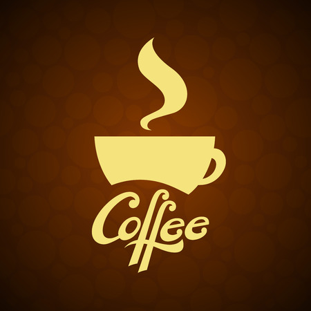 coffe cup: A vector image of a coffe cup with lettering