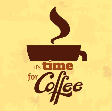 desing: A desing element with a coffee cup and a lettering