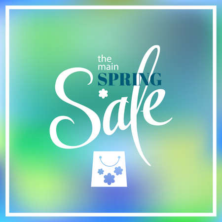 Spring sale blur background. Vector illustration template.banners.Wallpaper.flyers, invitation, posters, brochure, voucher discount.