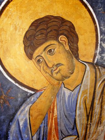 iconography: St. Thomas Icon in Medieval Eastern Orthodox Christian Style
