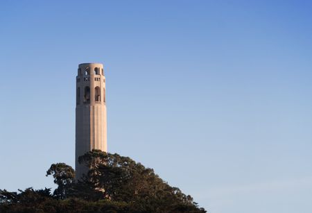 coit: Coit Tower in San Francisco at sunset