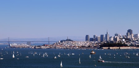 San Francisco Panorama from the Bay Bridge to Downtown