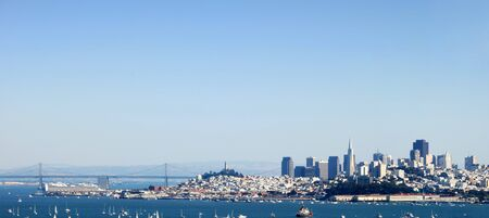 San Francisco Panorama from the Bay Bridge to Downtown Stock Photo - 4036250