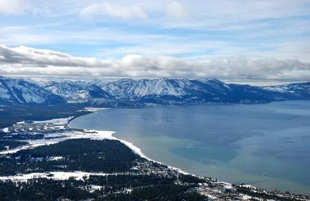 tahoe: view from heavenly ski resort on South Lake Tahoe in winter