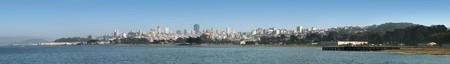 ile au tresor: San Francisco Panorama de l'�le au tr�sor au parc Presidio Banque d'images