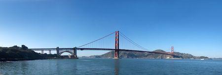 Panorama of Golden Gate Bridge in San Francisco. photo