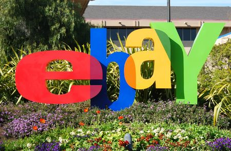paypal: San Jose, California, March 28, 2009 - eBay Inc. Company Logo In Front of the Whitman Campus on a sunny day.