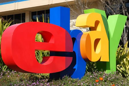 San Jose, California, March 28, 2009 - eBay Inc. Company Logo In Front of the Whitman Campus on a sunny day.