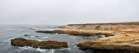 Panoramic View of a rocky coast, Montana de Oro State Park, California photo
