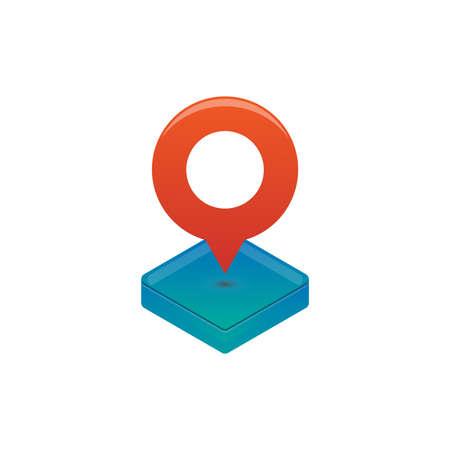 Isometric icon map