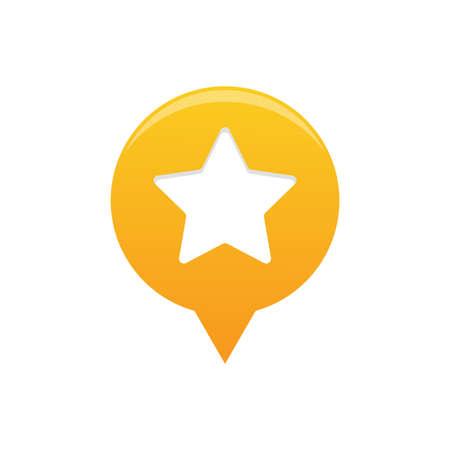 Stars locator maps icon vector Illustration