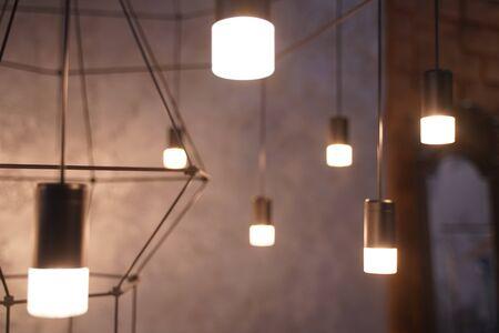 indoor light in dark background fashion room