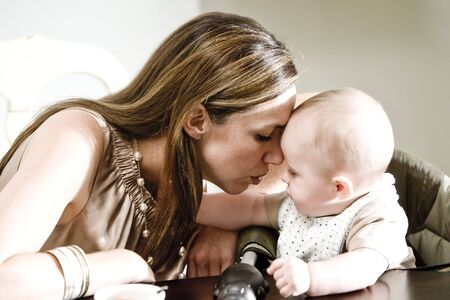 Closeup of mother and baby bonding Stock Photo - 6644362