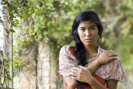 Beautiful woman, 20 years, of Pacific Islander ethnicity