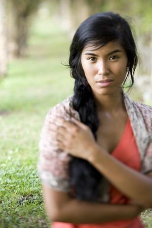 아름 다운 여자, 태평양 제도 민족의 20 년. 눈에 집중
