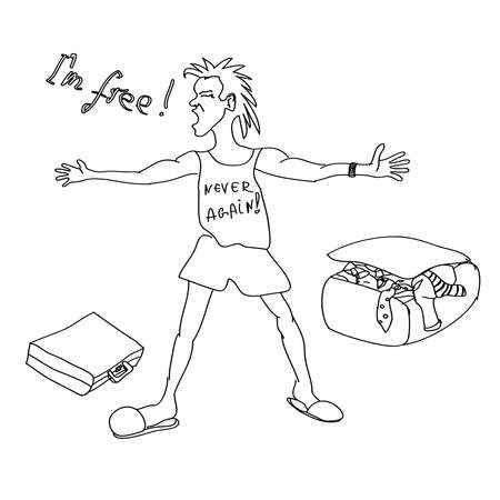 loveless: happy free man vector, divorce party vector, congratulations on your divorce, i am free, congratulations divorce,