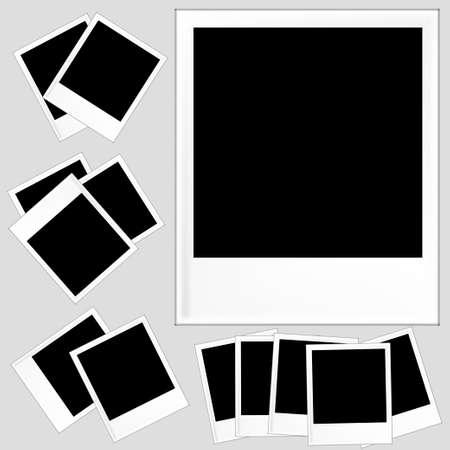 Retro photoframe isolated vector, polaroid photoframe vector