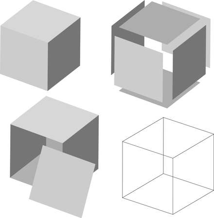 cosinus: mathematics theorem vector, mathematical analysis, cube vector, 3d cube