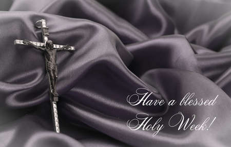 crucifix on dark background
