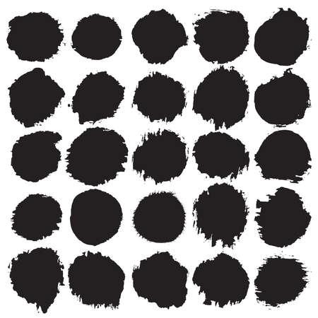 circles: Grunge circles set