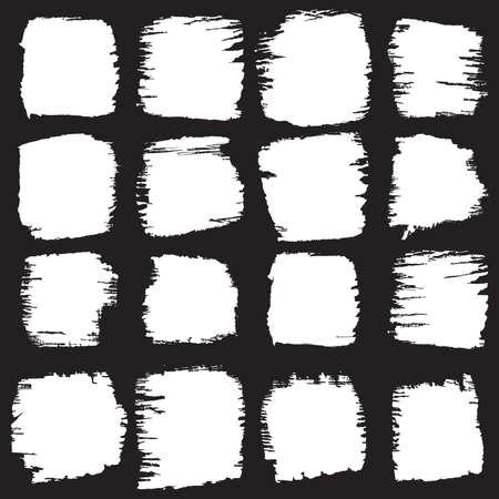Vector set of grunge brush strokes Illusztráció