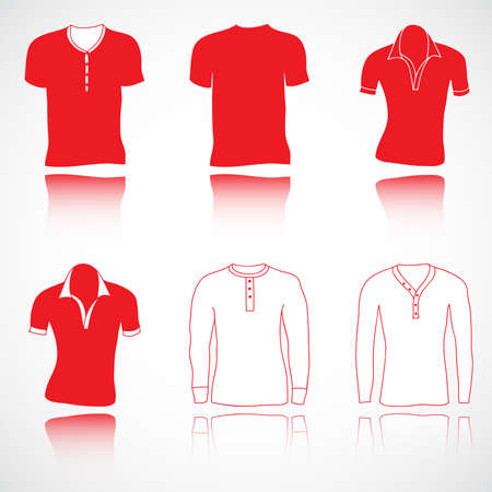 t-shirt, jerseys and sweater set, vector collection