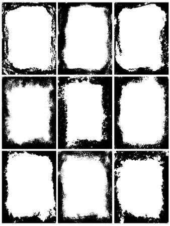 Set di frame grunge. modello vettoriale