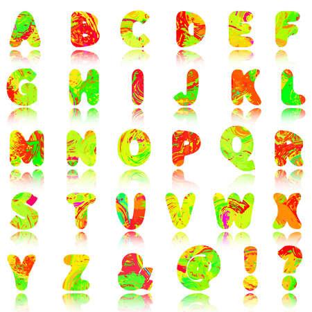 Vector abstract alphabet, 10eps