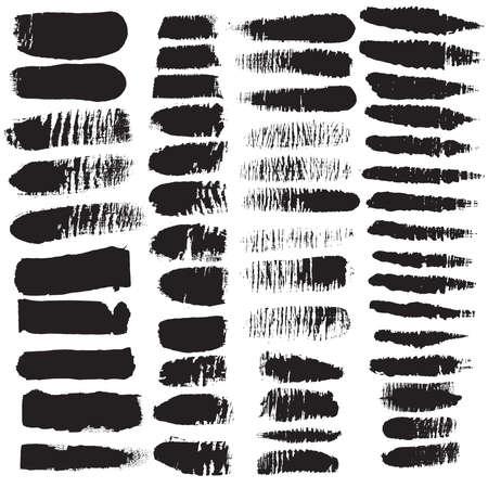 Grunge Edges Vector Set . Design Elements . Grunge Borders , Dividers or Brush Strokes . Illusztráció