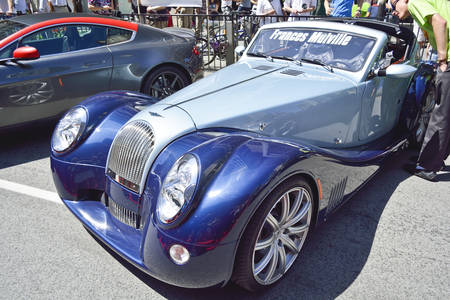 Toronto, Ontario, Canada - JUNE 28, 2014: 5th Annual Yorkville Exotic Car Show, The Bloor & Bay, over 120 beautiful examples of classic & exotic cars, including Porsches, Lamborghinis, Ferraris.