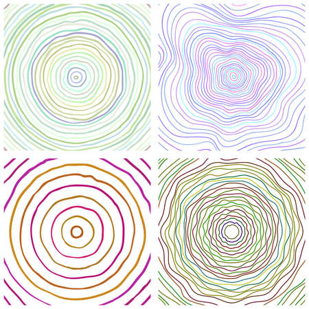 rings on a tree cut: Vector tree rings background, topographic map background concept Illustration