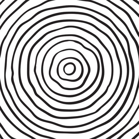 Conceptual background with tree-rings. Vector graphics