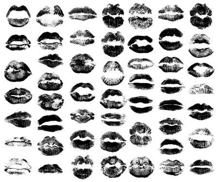 Set van vrouwen lippen pictogrammen Stockfoto - 99517731