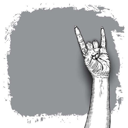 International woman day. Diversity raised fist. Ink art with empty grunge space for text. Vector. Illustration