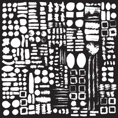 Hand drawn decorative vector brushes. Dividers, borders. Ink illustration.  Illusztráció
