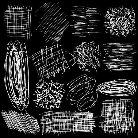 Scribble Doodles Sketchy Back to School Notebook Vector Illustration Design Elements on Sketchbook Paper Background