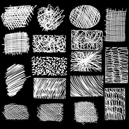 Scribble frottis dessinés à la main au crayon, élément de conception de logo vectoriel