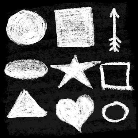 A set of textures. Blackboard and chalk Illusztráció