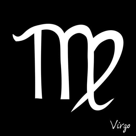 Virgo zodiac horoscope hand drawing sign for mystic  occult  palmistry and witchcraft alchemy. Vector.