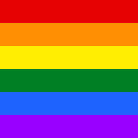 Gay and LGBT flag, culture symbol. Raster.