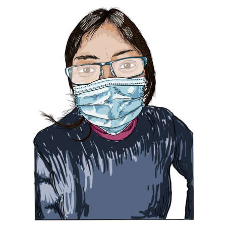 Portrait of the tired and exhausted nurse in the medical mask after hard working day in the hospital during COVID-19 coronavirus outbreak pandemic. Essential healthcare workers are heroes.