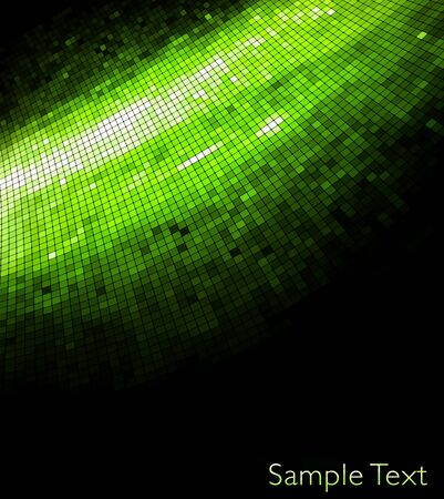 Green geometric tech background. Creative background. photo