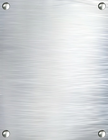 brushed aluminium: Metal plate steel background. Stock Photo