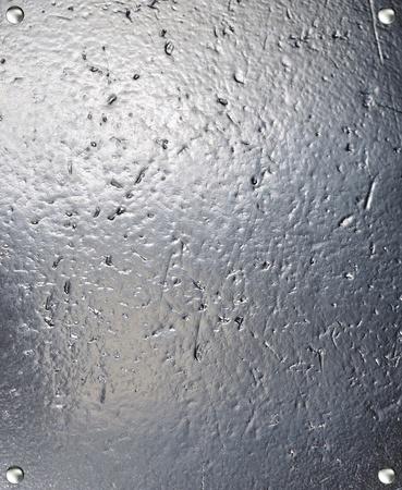 Metal plate steel background. photo
