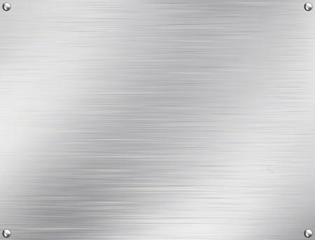 brushed aluminium: Metal plate steel background. Stock Photo