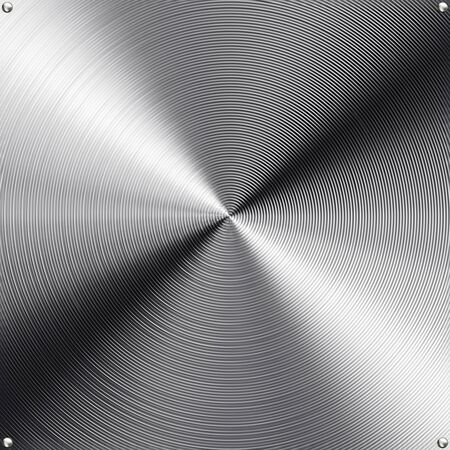 High contrast brushed stainless steel texture. photo